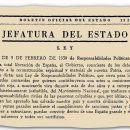 Ley de Responsabilidades Políticas 1939 (Comentario de texto)