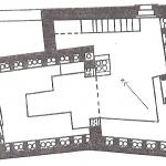 Planta de un columbario de Ostia