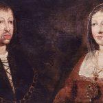 Retrato al óleo de los Los Reyes Católicos, Fernando de Aragón e Isabel de Castilla. La pintura está datada en el siglo XV y localizado en el Convento de las Augustinas, en Madrigal de las Altas Torres, Ávila.