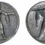 Moneda de plata con dos representaciones de Posidón lanzando el tridente. Museo Británico