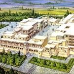 Reconstrucción palacio de Cnossos