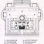 Plano de las termas de Caracalla