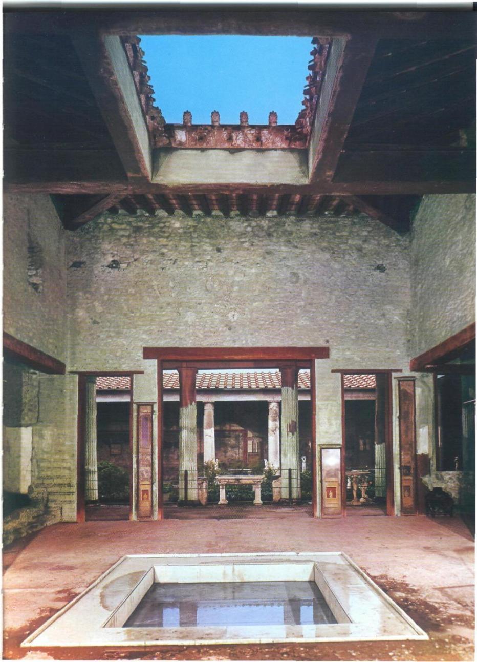 Aqua el abastecimiento de agua en las ciudades romanas for Atrio dentro casa