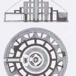 Planta y alzado del Mausoleo de Augusto