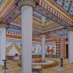Reconstrucción megaron de Pilos