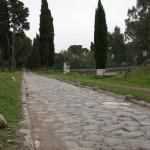 Vía Apia. Típica vía pavimentada con losas